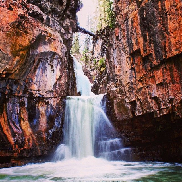 Cascade Canyon near Durango, Colorado offers waterfall jumping at it's finest with a series of more than 5 waterfalls to jump down!