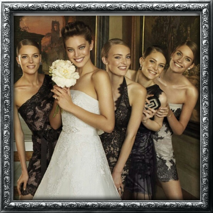 fall bridal party pictures%0A Gorgeous lace bridesmaids dress