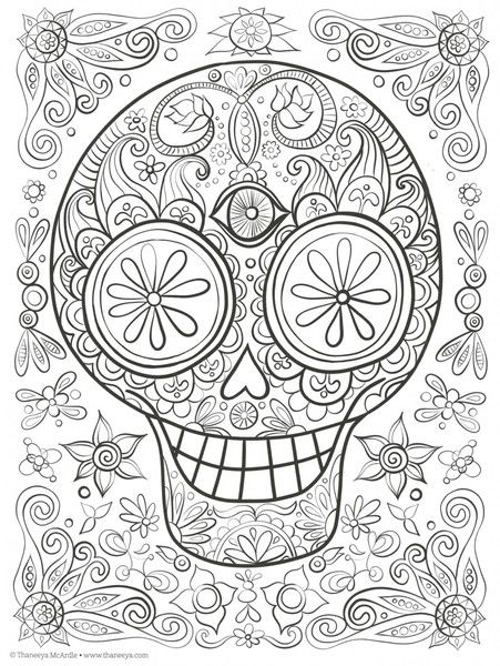 Day of the dead adult coloring and activity book kay 39 s for Mexican coloring pages for adults
