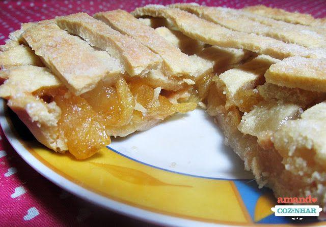 Torta de maçã caramelizada