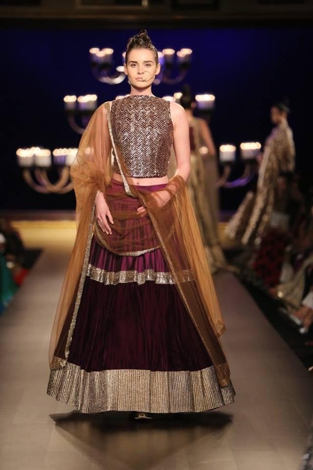Manish Malhotra at India Couture Week 2014 - purple lehenga