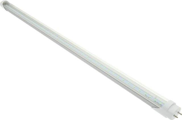 TUB NEON LED 18W 120CM CLAR ALB RECE AL-PLASTIC -  TUBUL NEON LED 18W 120CM CLAR ALB RECE AL-PLASTIC ofera o lumina puternica emisa prin dispersorul din sticla transparenta, similar unui tub neon conventional T8 de 36W si, spre deosebire de produsul traditional, nu contine mercur, fiind ecologic.