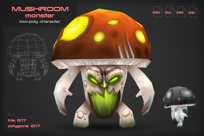 Mushroom Monster by stallfish's art store on @creativemarket