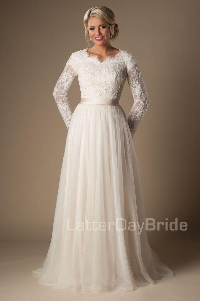 'Fairchild' modest long sleeve gown, modest wedding, modest bride, modest ballgown