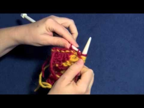 """Learn how to knit entrelac RS rectangles with Part Five of Planet Purl's six-part how-to video, taught by Beth Moriarty, author of """"Deep South Knitting."""""""