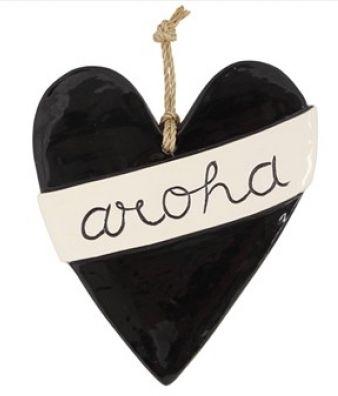 Large ceramic Aroha heart from Texan Art Schools - $60.00