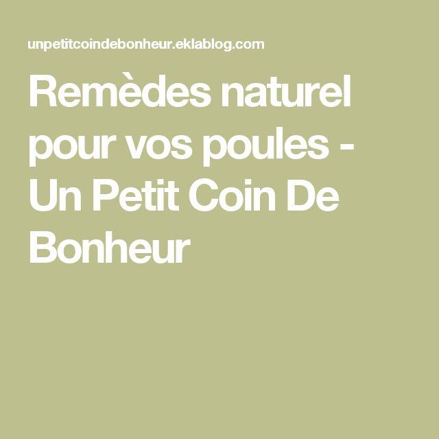 Remèdes naturel pour vos poules - Un Petit Coin De Bonheur