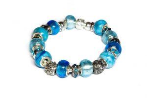 Schmuck Adventskalender Beads Armband türkis blau