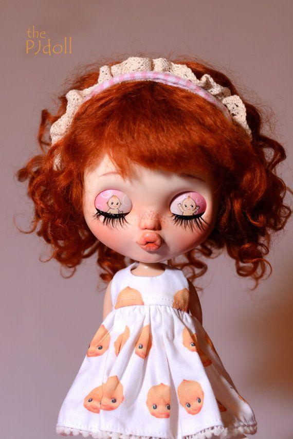 thePJdoll-SOLD OUT [ KewPie Baby ! ] Custom Blythe Doll/OOAK, handmade blythe custom/deer ears/azone/art doll/alpaca