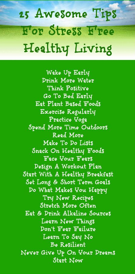 25 Awesome Tips For Stress Free Healthy Living. Learn more about alkaline rich Kangen Water; the hydrogen rich, antioxidant loaded, ionized water that neutralizes free radicals that cause oxidative stress which is a leading cause of stress and health problems. Change your water, change your life.
