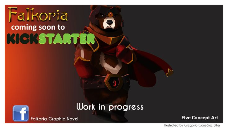 Alkian concept art for Falkoria Graphic Novel