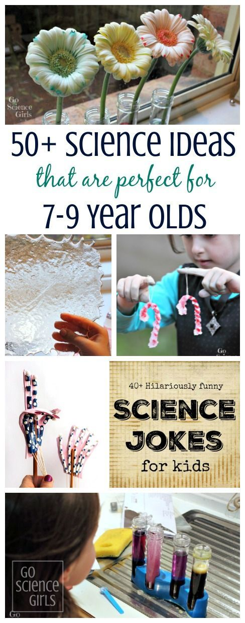 Over 50 fun science ideas and experiments that are perfect for 7-9 year olds to do at home. | STEM