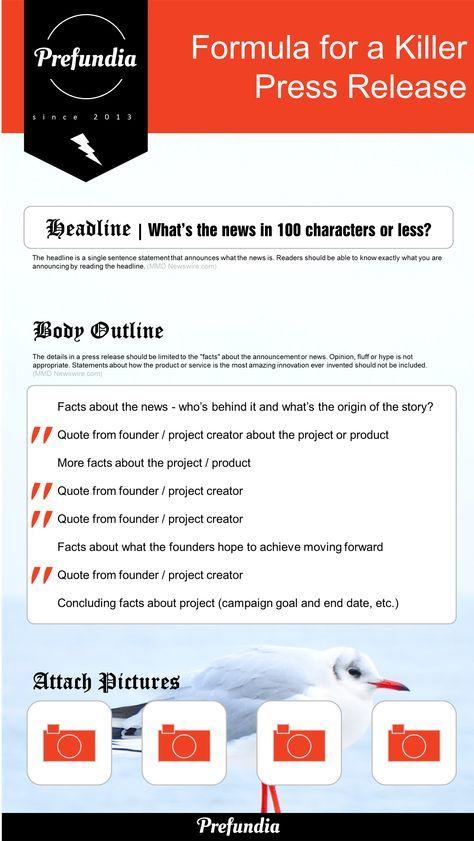 How to write a press release Press Release Template - Prefundia