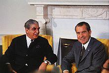 Yahya Khan, President of Pakistan from until 1971, and US President Richard Nixon