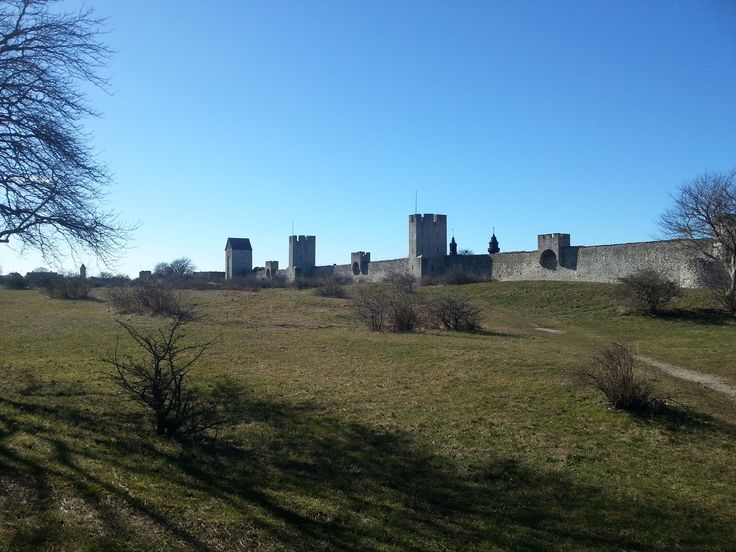 The wall of Visby, Gotland