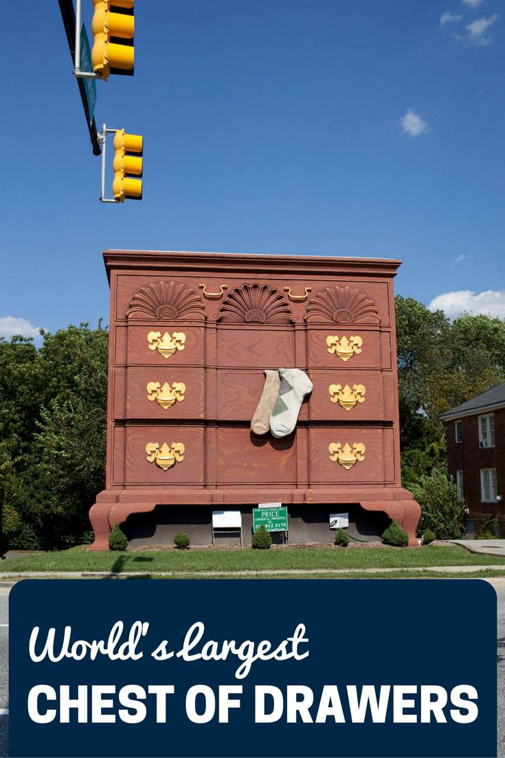 World's Largest Chest Of Drawers - a roadside attraction in High Point, North Carolina