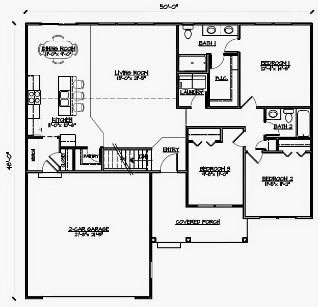 3bedroom Wheelchair Accessible House Plans Universal Design For