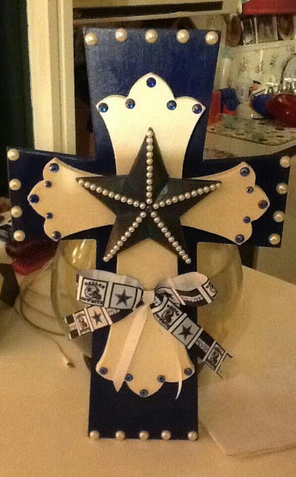 Dallas cowboy cross wooden crosses pinterest dallas for Dallas cowboys arts and crafts