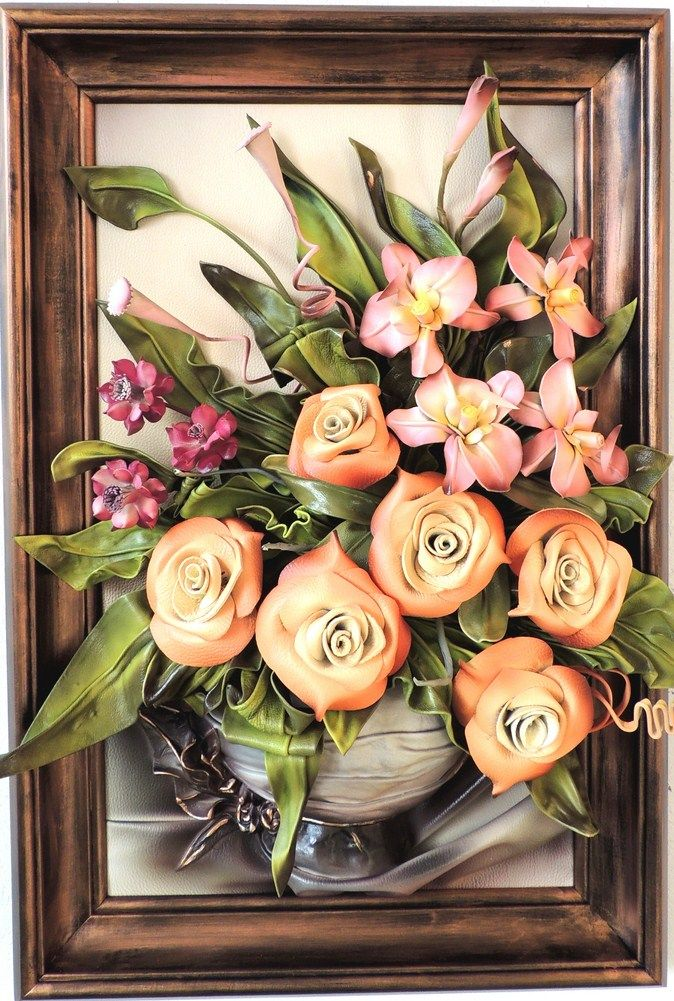 22 best images about Leather Hanging Flower Art on ...