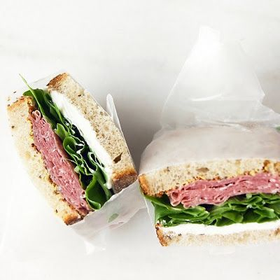 Oven Lovers: Salami and Cream Cheese Sandwich