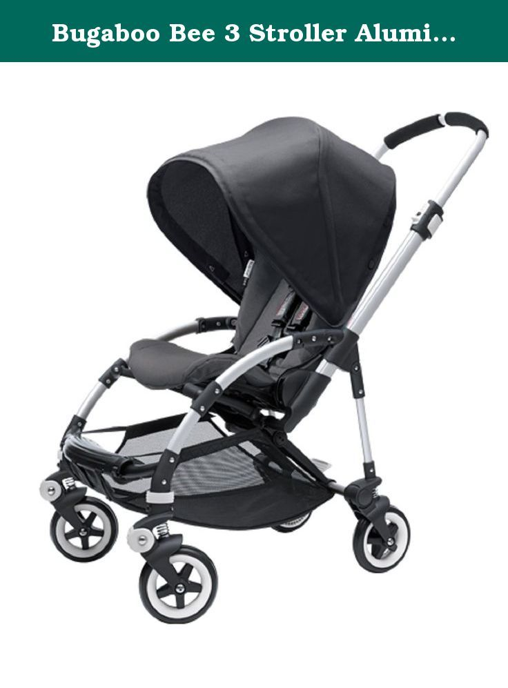 Bugaboo Bee 3 Stroller Aluminum Frame and Black Seat with