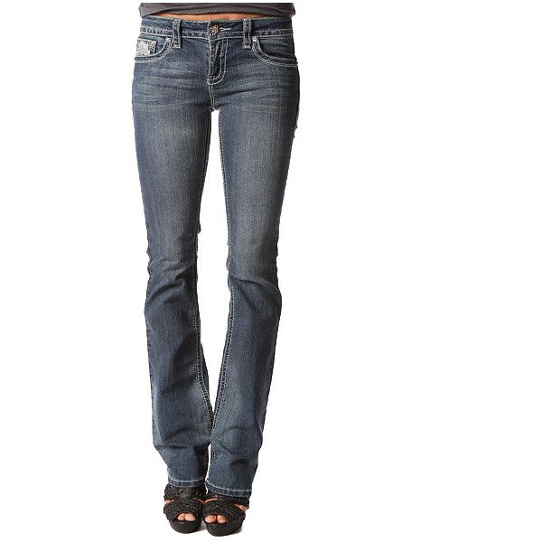 Papaya Clothing Online :: STITCH FLARE JEANS ($30) ❤ liked on Polyvore