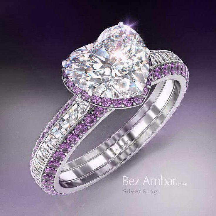 Purple and diamonds