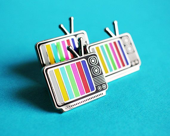 Retro TV Lapel Pin by walrusandtoad on Etsy