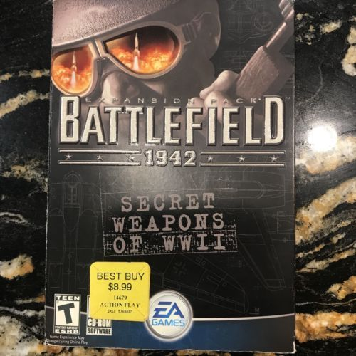 EA Computer Gam Battlefield 1942 - Expansion Pack - Secret Weapons of WW Box NEW