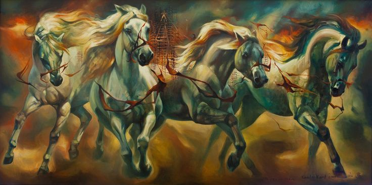 """ Chariot of time"" oil on canvas 180X100 cm 2009"