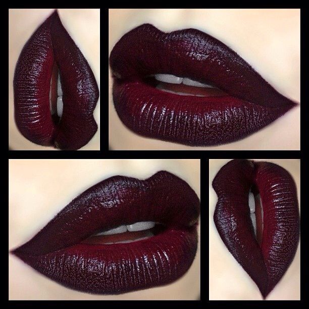 Dark vampy lips