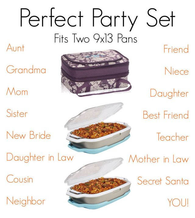 """Perfect Party Set- Thirty One by Miriam McDonnell"" by sandiegomunky ❤ liked on Polyvore featuring Fit & Fresh"