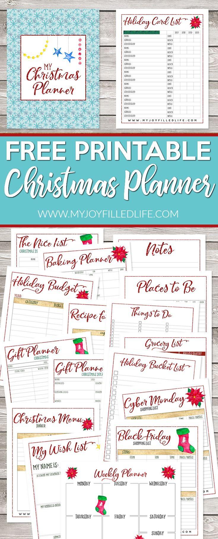 Christmas Planners 2020 Printable Christmas Planner | Christmas planner printables