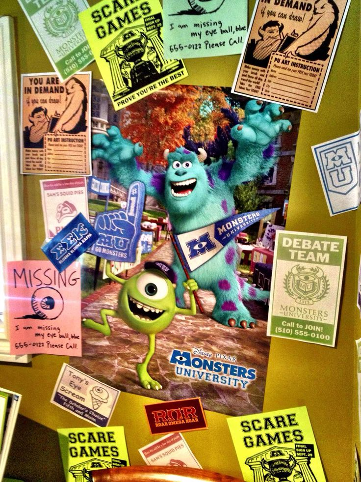 Monsters University Birthday Party Decor Monsters