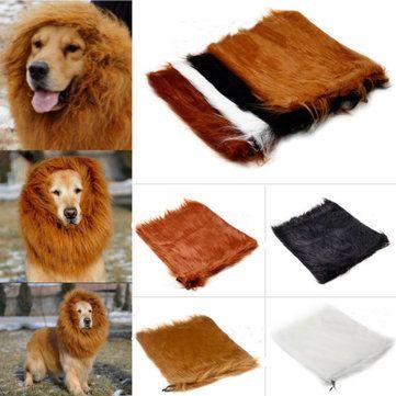 Sólo €8.66 , compra Ropa de disfraces de mascotas peluca melena de león de halloween para 80cm gato perro grande en Banggood.com. Comprar moda Ropas & Zapatos en línea.