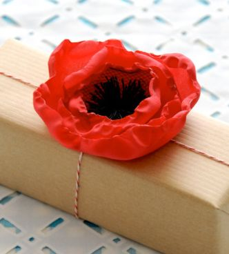 DIY: Fabric Poppy Flower handmade gifts hand made gifts diy gifts creative