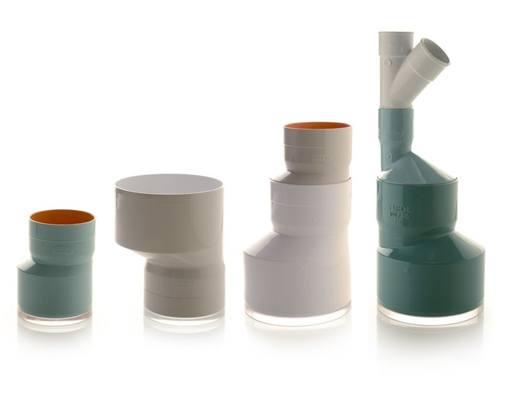 PVC plumbing pipes turned into pots, designed by Zpstudio Tools.
