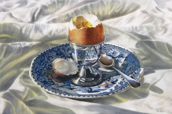 Breakfast in Bed - transparent acrylic - www.paulconey.co.nz