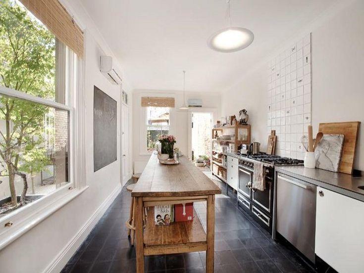 Best 25 galley kitchen island ideas on pinterest for Narrow kitchen ideas home