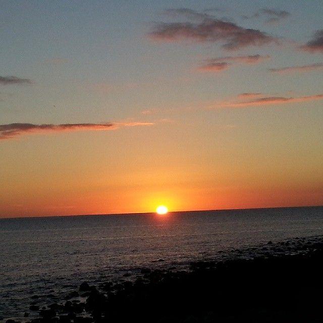 #tonight its #beautiful #sunset @ #tauro #beach absolutely #stunning! #nofilter #sunshine #sun #nature #naturelovers #nature_seekers #bestofinstagram #bestoftheday #sky #sunsetsofinstagram #natural #amazing #colors #ocean #sea #water #pink #red #blue #yellow #clouds