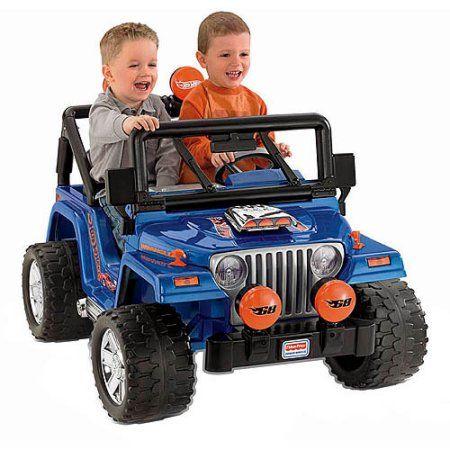 Wheels Hot Jeep Wrangler 12 Volt Battery Ed Ride On With Bonus Cars Blue