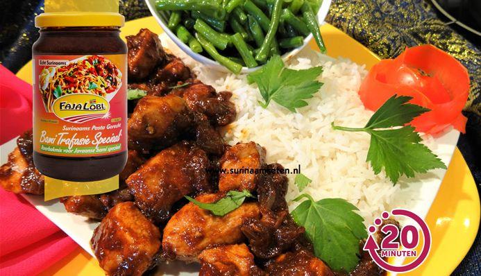 Surinaams eten – Javaanse Ajam Ketjap met kousenband