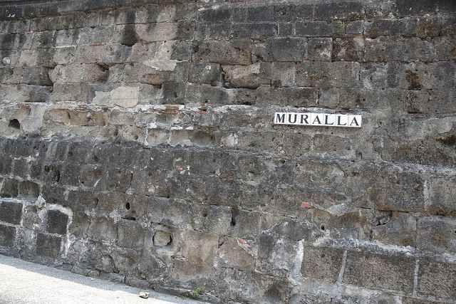 Muralla en Intramuros, Manila, Filipinas (PH)