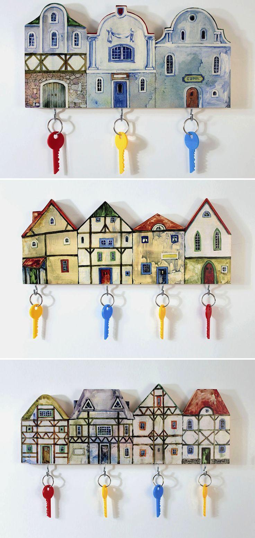 Wooden Keyholders | Деревянные ключницы — Купить, заказать, ключница, дерево, дом, домик