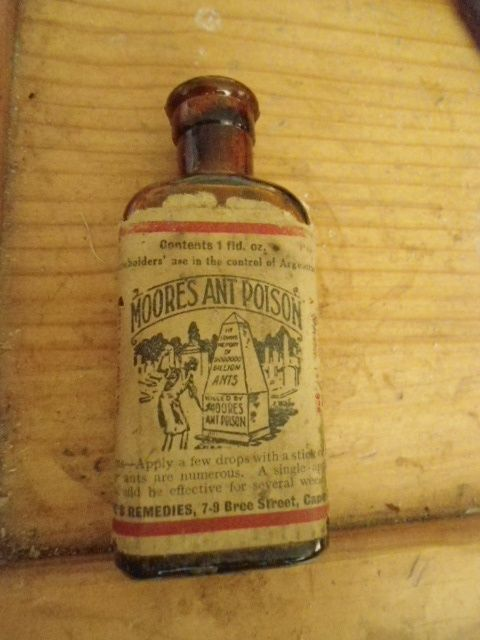 Other Antiques & Collectables - ANTIQUE 1928 MOORES ANT POISON BOTTLE was sold for R120.00 on 27 Apr at 20:29 by Fireproof 92 in Robertson (ID:226589582)