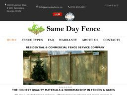 New listing in Fence Contractors and Builders added to CMac.ws. Same Day Fence in Kennesaw, GA - http://fence-contractors.cmac.ws/same-day-fence/4478/