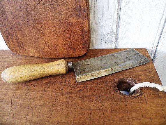Vintage: Ates Küchenbeil Hackmesser  Brocante von Gernewieder