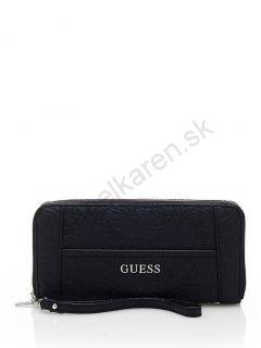 Peňaženka GUESS Delaney saffiano-look