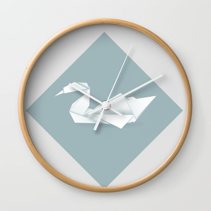 Buy Origami swan Wall Clock by annartshock. Worldwide shipping available at Society6.com. Just one of millions of high quality products available.