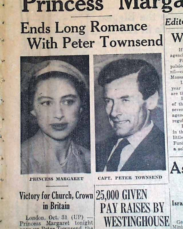 Princess Margaret Scandals   Princess Margaret does not marry Peter Townsend... - RareNewspapers ...